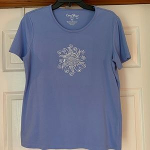 Coral Bay Blue Shirt with Stones PM
